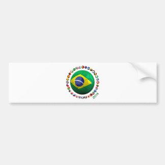 Brasilien-Fußball Autoaufkleber