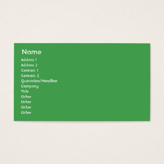 Brasilien - Geschäft Visitenkarte