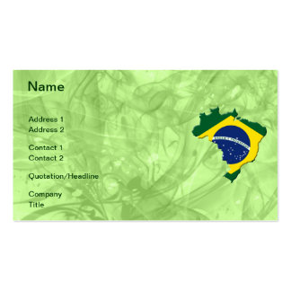 Brasilien-Karte Visitenkarten Vorlagen