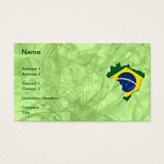 Brasilien-Karte Visitenkarte