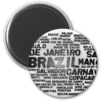 Brasilien-Magnet Runder Magnet 5,7 Cm