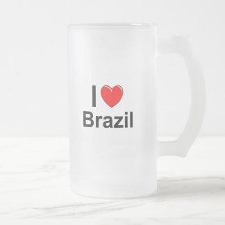Brasilien Mattglas Bierglas