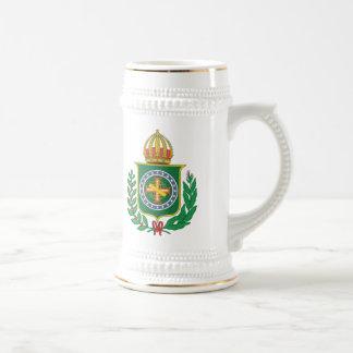 Brasilien-Reich-Wappen Bierglas