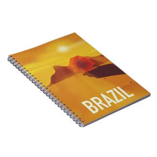 Brasilien-Reiseplakat Notizblock