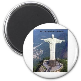 Brasilien Rio de Janeiro Christus (St.K.) Runder Magnet 5,1 Cm