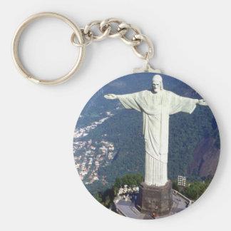 Brasilien Rio de Janeiro Jesus (neu) (St.K) Standard Runder Schlüsselanhänger