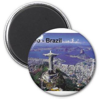 Brasilien Rio de Janeiro (St.K.) Runder Magnet 5,1 Cm