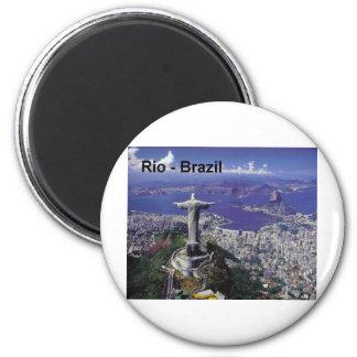 Brasilien Rio de Janeiro (St.K.) Runder Magnet 5,7 Cm