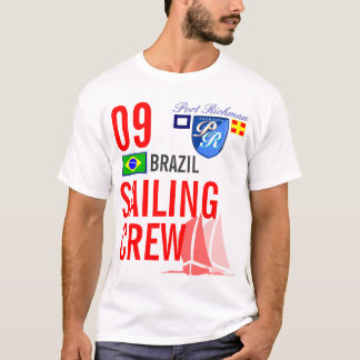 Brasilien-Segeln-Crew nautisch T-Shirt
