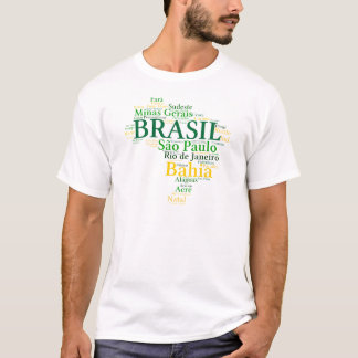 Brasilien Staaten und Hauptstädte T-Shirt