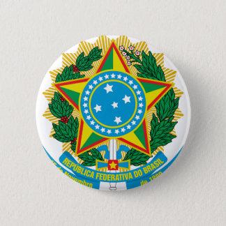Brasilien-Wappen Runder Button 5,1 Cm