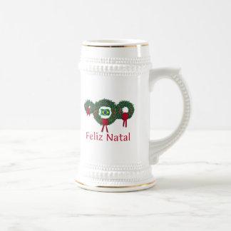 Brasilien-Weihnachten 2 Bierglas