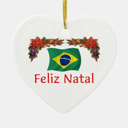 brasilien weihnachten keramik ornament zazzle. Black Bedroom Furniture Sets. Home Design Ideas