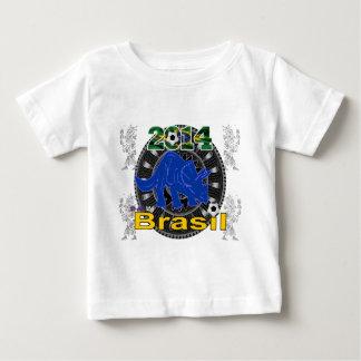 BRASILIEN WORLDCUP DINOSAURIO KUNDENGERECHT BABY T-SHIRT