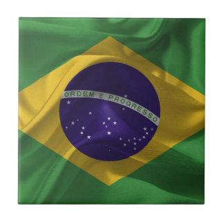 BrasilienFlaggen Kleine Quadratische Fliese