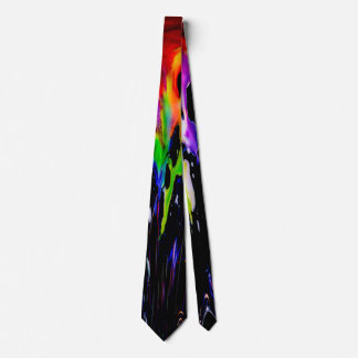 Bratenfett-Tinte, bunte Regenbogengalaxie Krawatte