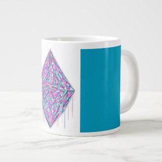 Bratenfett-Zuckerwatte-riesige KristallTasse Jumbo-Tasse