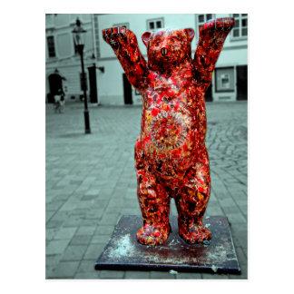 Bratislava-Bär. Kunst durch Jaro Sulek Postkarte