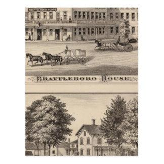 Brattleboro Haus Postkarte