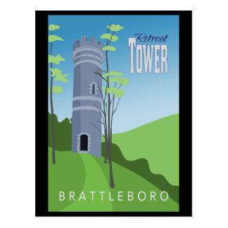 Brattleboro Rückzug-Turm-Postkarte Postkarte