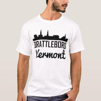 Brattleboro Vermont Skyline T-Shirt