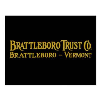Brattleboro Vertrauen Co., Logo-Postkarte 1918 Postkarte