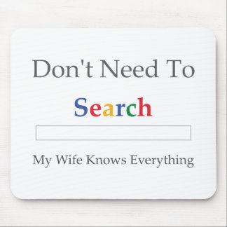 Brauchen Sie nicht zu suchen. Meine Ehefrau weiß a Mauspad