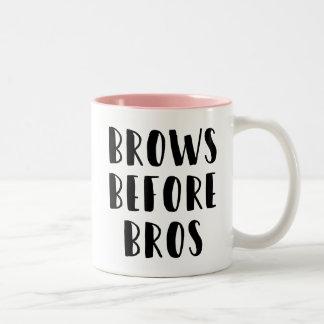 Brauen vor Bros Make-upTasse Zweifarbige Tasse