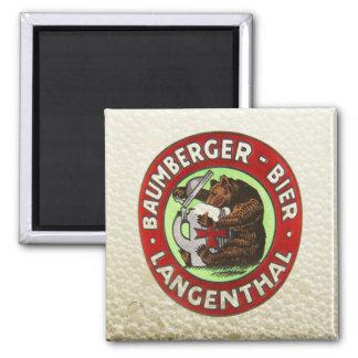 Brauerei Baumberger Langenthal Magnet Quadratischer Magnet