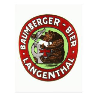 Brauerei Baumberger Langenthal Postkarte