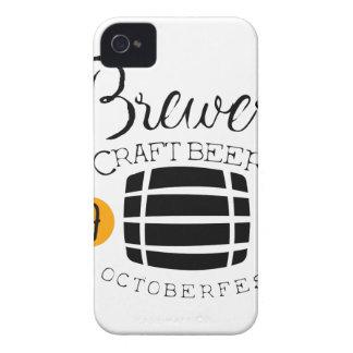 Brauerei-Logo-Entwurfs-Schablone mit Fass Case-Mate iPhone 4 Hüllen