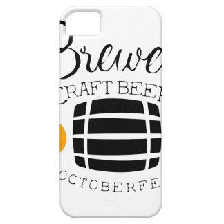 Brauerei-Logo-Entwurfs-Schablone mit Fass iPhone 5 Hülle