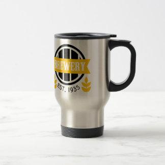 Brauerei-Logo-Entwurfs-Schablone Reisebecher