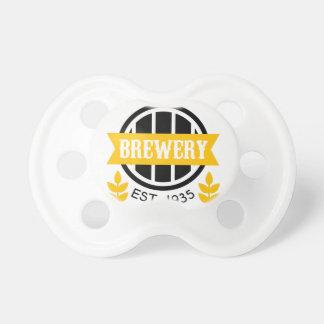 Brauerei-Logo-Entwurfs-Schablone Schnuller