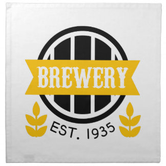 Brauerei-Logo-Entwurfs-Schablone Stoffserviette