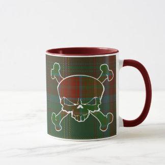 Brauertartan-Schädel keine Fahnen-Tasse Tasse