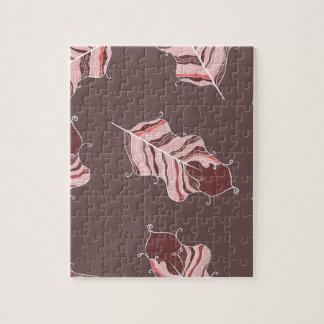 Braun-Blätter Puzzle