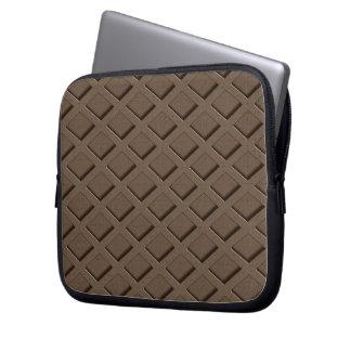 Braun gemustert laptop sleeve