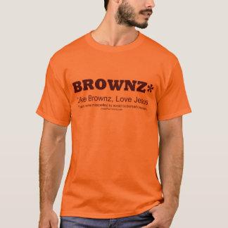 Braun/Jesus-Fan T-Shirt
