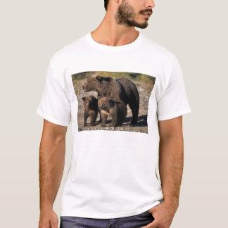 Braunbär, Grizzlybär, Sau mit dem Jungsschauen T-Shirt