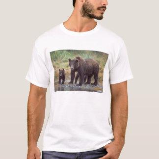 Braunbär, Ursus arctos, Grizzlybär, Ursus 3 T-Shirt