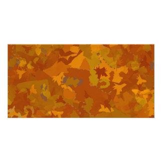 braune Camouflageeichenfarbmustercollage Personalisierte Foto Karte