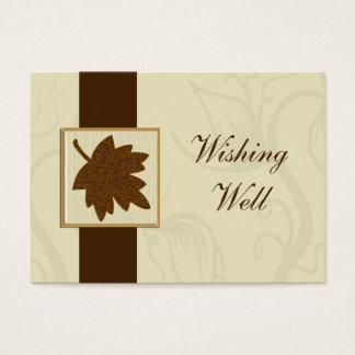 braune Hochzeit im Herbst, die wohle Karten