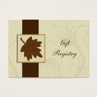 braune Hochzeit im Herbst Geschenkladen Karten