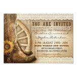 braune hölzerne Hochzeit der Einladungskarten