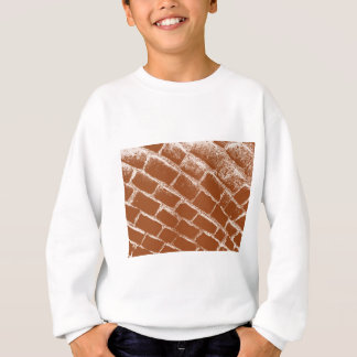 braune Kopfsteine aufgehoben Sweatshirt