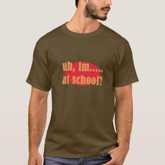 braune orange und gelbe kurze Hülsenaussage T-Shirt