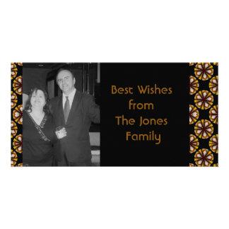 braune schwarze Kreise Photokartenvorlagen