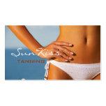 Bräunender Salon, Wellness-Center-Geschäfts-Karte Visitenkarten Vorlage
