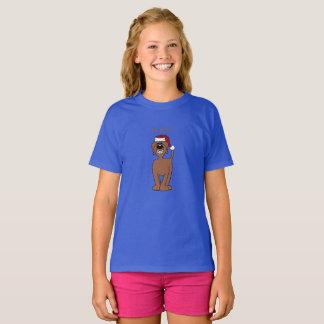 Brauner Doodle Santa T-Shirt